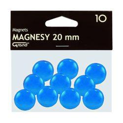 Mágneses jelölő táblamágnes 20 mm -es, kör alakú gombok - kek