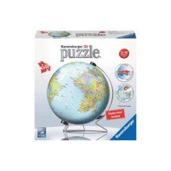 Földgömb puzzle - kék színezésű 540 db-os 3D gömb Ravensburger Puzzle földgömb