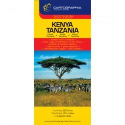 Kenya, Tanzánia térkép Cartographia 1:2 500 000