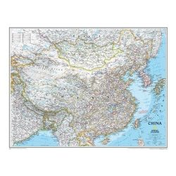 Kína falitérkép National Geographic  76x61cm
