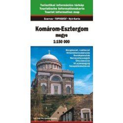 Komárom-Esztergom megye térkép Szarvas 1:150 000