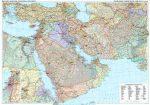 Közel-Kelet falitérkép Gizi Map 1:4 000 000 125 x 88 cm