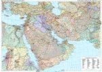 Közel-Kelet falitérkép Gizi Map fóliáa 1:4 000 000 125 x 88 cm