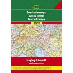 Közép-Európa autó atlasz Freytag & Berndt 1:500 000