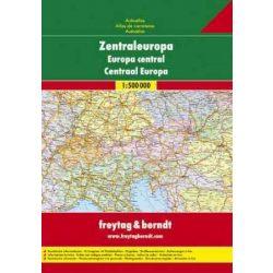 Közép-Európa autó atlasz Freytag & Berndt 1:2 000 000   2019