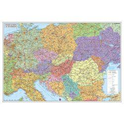Közép-Európa falitérkép, fóliás könyöklő Stiefel 65x45 cm