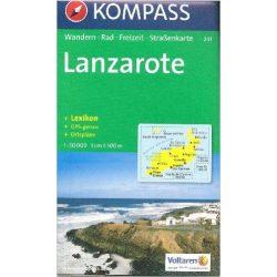 241. Lanzarote térkép Kompass 1:50 000