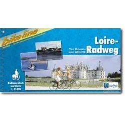 Loire-Radweg kerékpáros atlasz Esterbauer 1:75 000 Loire-völgy térkép  2016 Loire kerékpáros térkép