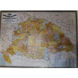 Magyar Korona Közigazgatási falitérkép