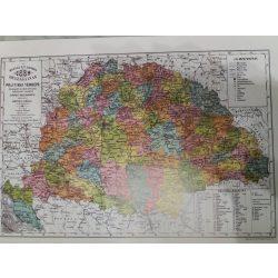Magyar Szent Korona Országainak Politikai falitérképe 49x35 cm