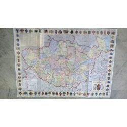 A Kárpát-medence nevezetességei térkép hajtogatott Corvina 2013 1:160 000