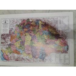 Magyar Szent Korona Országainak falitérképe 53x36 cm