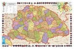 A Magyar Szent Korona Országai keretes falitérkép Stiefel 100x70 cm