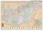 Magyarország falitérkép, Magyarország közigazgatása falitérkép járásokkal antik stílusú, fémléces Stiefel 140x100 cm