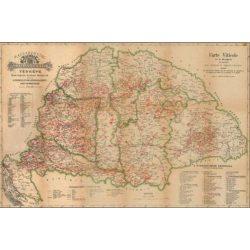 Magyarország borászati térképe könyöklő Stiefel  65x45 cm