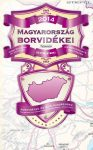 Magyarország borvidékei térkép hajtogatott Stiefel 2014  100 x 70 cm