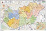 Magyarország közigazgatása és közlekedése falitérkép, könyöklő Stiefel 70x50 cm