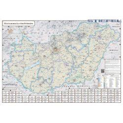 Magyarország fürdőtérképe Stiefel 1:550 000  100 x 70 cm