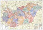 Magyarország közigazgatása keretes falitérkép Szarvas kiadó 1:450 000 122x86  2017