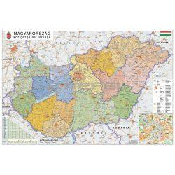 Magyarország falitérkép St. 200x140 cm nagy méretű papírposzter, Magyarország közigazgatása falitérkép, Magyarország térkép falra 2018