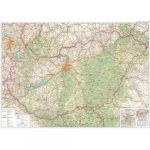Magyarország falitérkép Magyarország közlekedése keretezett falitérkép Freytag 1:400 000 139x94