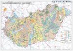 Magyarország talajtani térképe fémléces 100 x 70 cm