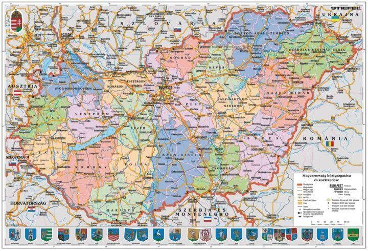 magyarország térkép nyomtatható Magyarország közigazgatása és domborzata iskolai lap Stiefel A/4  magyarország térkép nyomtatható