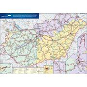 Magyarország vasút térképe, Magyarország vasúti árufuvarozási térképe fémléccel 120x80 cm