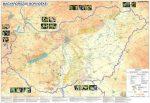 Magyarország borvidékei és történelmi emlékhelyei falitérkép Stiefel 100x70cm