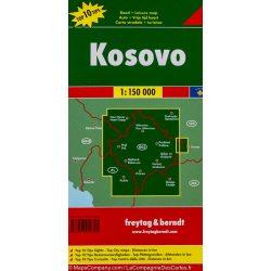 Koszovó térkép 1:150 000  Freytag Kosovo térkép AK 0716