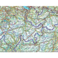 Alpok falitérkép, Alpok országai falitérkép Freytag 123 x 87 cm 1:800e