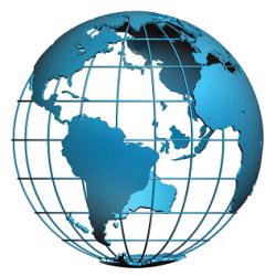 Prága térkép, látványtérkép, Prága panorámatérkép angol nyelven