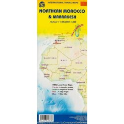 Észak-Marokkó térkép, Marrakesh térkép ITMB 1:17 400, 1:400 000