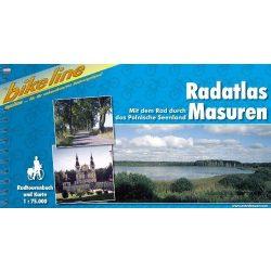 Masuren kerékpáros atlasz Esterbauer 1:75 000 Mazuri-tavak térkép