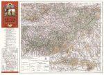 Mecsek hegység turista térképe antik falitérkép HM 1929