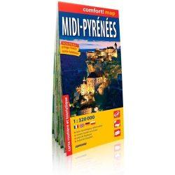 Pyrénées, Midi-Pireneusok térkép ExpressMap fóliás 1:320 000