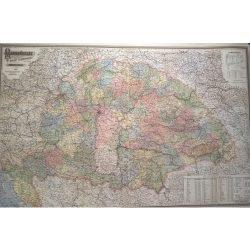 Magyarország falitérkép 1903 antik Homolka 100x70 cm, a magyarság összetartozása térkép