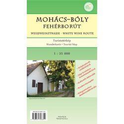 Mohács-Bóly fehérborút turista térkép Kovács Térképműhely 1:35 000