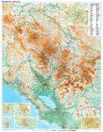 Montenegro falitérkép Gizi Map 1:250 000