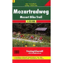 RK 3 Mozart kerékpárút Mozartradweg kerékpáros térkép Freytag & Berndt 1:125 000
