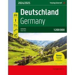 Ausztria, Németország, Svájc atlasz spirálkötésben, 1:300 000 Freytag térkép DACHAA SP 2016
