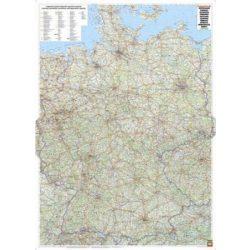 Németország falitérkép fóliázott úthálózatos Freytag 1:700 000 93,5x126,5 cm