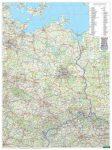 AK 0222 P Kelet-Németország falitérkép íves földrajzi falitérkép Freytag 1:500 000  2015