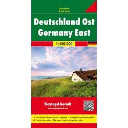 AK 0222 Kelet-Németország térkép Freytag 1:500 000  2015