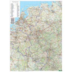 AK 0223 P Nyugat-Németország falitérkép íves földrajzi falitérkép Freytag 1:500 000  2015