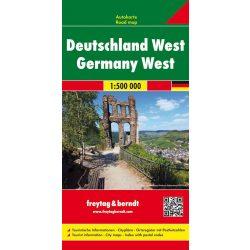 AK 0223 Nyugat-Németország térkép Freytag 1:500 000  2015
