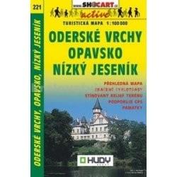 SC 221. Opavsko Oderské Vrchy Nízky Jeseník turista térkép Shocart 1:100 000