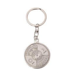 Öröknaptár kulcstartó ezüst színű