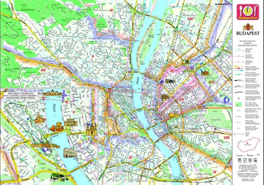 parlament térkép Parlament tányéralátét könyöklő + hátoldalon Budapest belváros