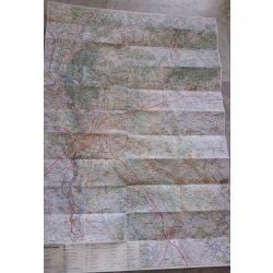 Pest megye falitérkép fóliázott  Nyír-Karta  1:150 000 82x120 cm